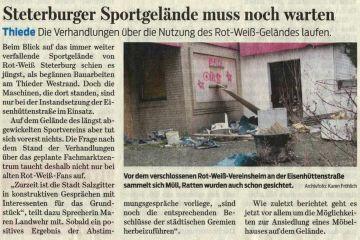 19.04.2016 Zeitungsartikel Salzgitter-Zeitung